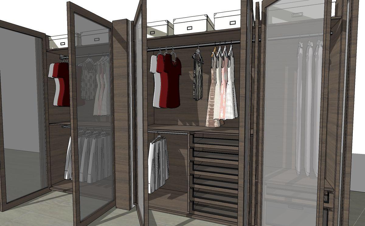 #progetto #armadio #guardaroba #interiordesign # ...