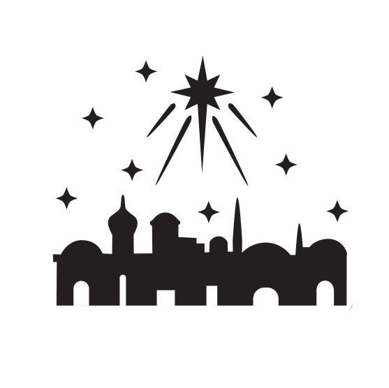 Image Result For Bethlehem In Silhouette Silhouette Christmas Jesse Tree Ornaments Bethlehem Christmas