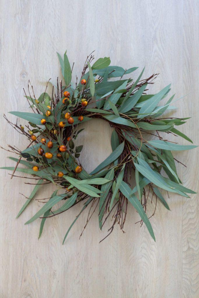 Photo of DIY Eucalyptus and Berry Fall Wreath