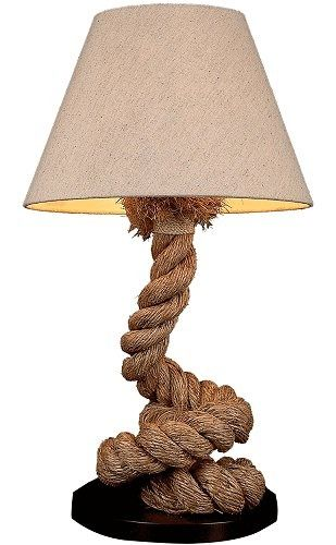 Rope Table Lamp Base | Pottery Barn Home Goods/TJ Maxx Also Had This Lamp  Recently (ann Arbor, Carpenter Rd Store) | Navy Nautical | Pinterest | Table  Lamp ...