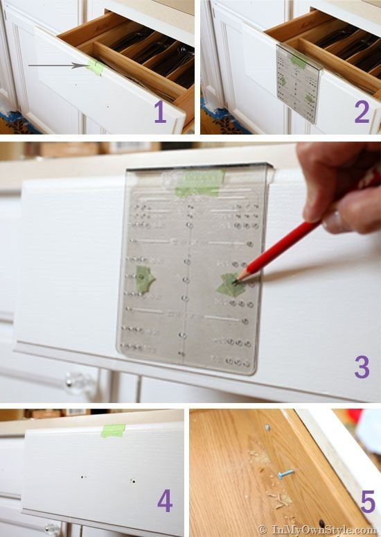 Find The Center Drawer Front Place Piece Low Tack Tape How Install Kitchen Cabinet Hardware