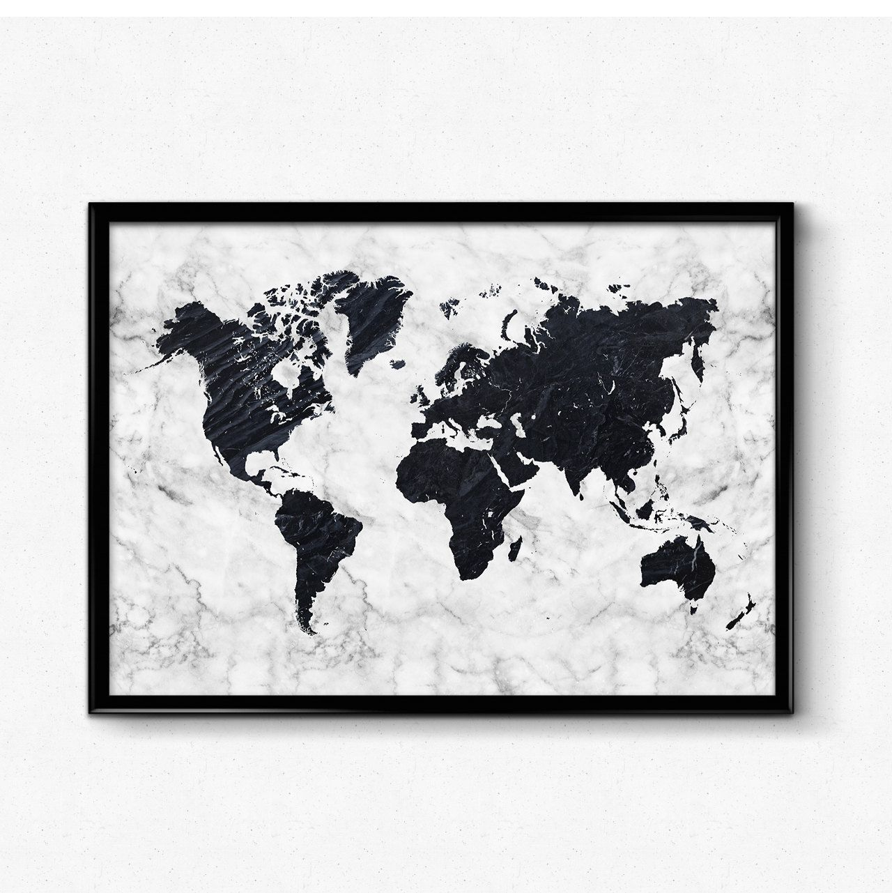 Marble warld map poster black and white marble art map art poster marble warld map poster black and white marble art map art poster home wall posters gallery wall large print by hamptydamptyart on etsy gumiabroncs Choice Image