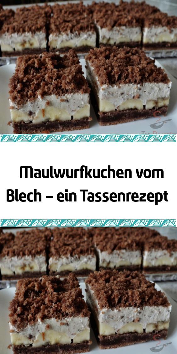 Maulwurfkuchen vom Blech – ein Tassenrezept #leckerekuchen