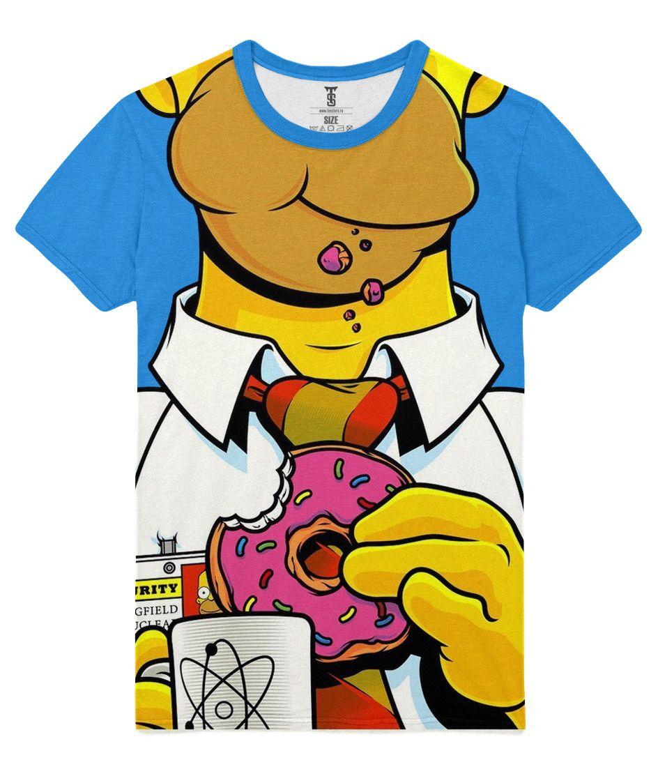 T-shirt The Simpsons Homer Donnut Eat Simpson   DIY clothing   Pinterest