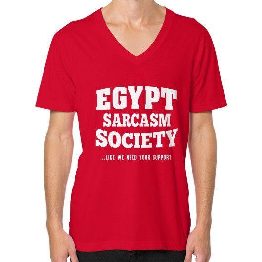 Egypt sarcasm society V-Neck (on man)