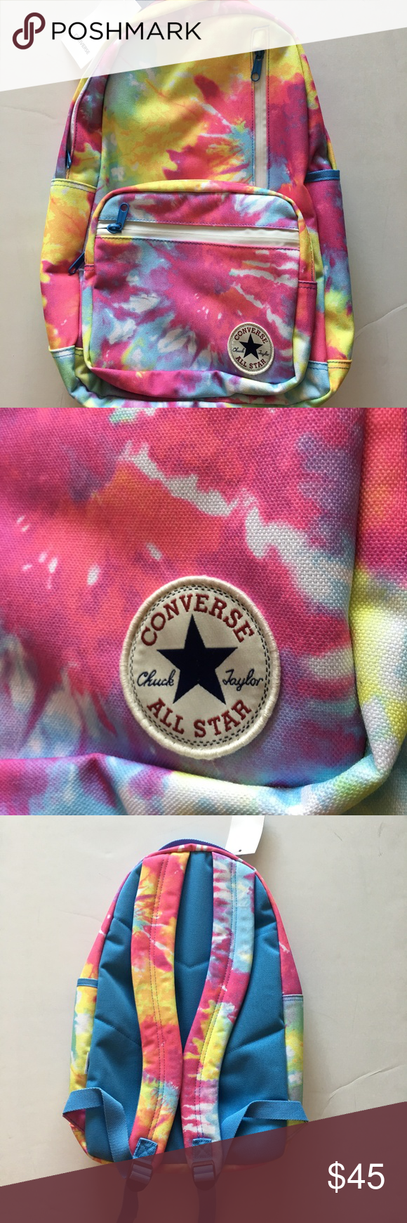 57f05fd0a7db Converse Chuck Taylor Tie-Dye Backpack NWT Converse All Star Chuck Taylor  Tie-Dye backpack is NWT. Item has 4 zipper pockets. Stylish backpack for  Back 2 ...