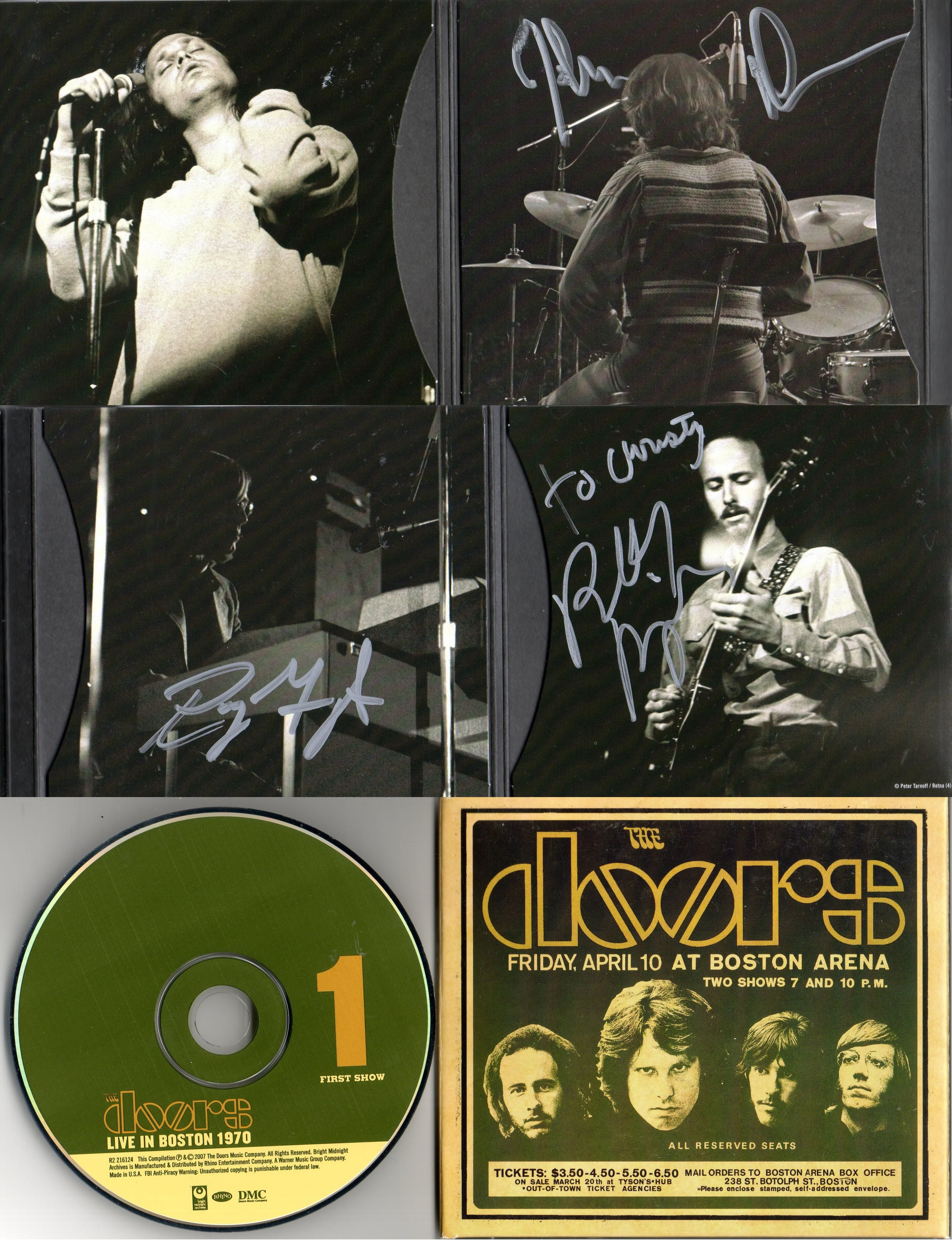 John Densmore Ray Manzarek and Robby Krieger of the Doors. Autographs on the 3 disc release  Live in Boston  sc 1 st  Pinterest & John Densmore Ray Manzarek and Robby Krieger of the Doors ... pezcame.com