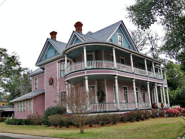 Interesting Old House With Curving Veranda, Pensacola, FL