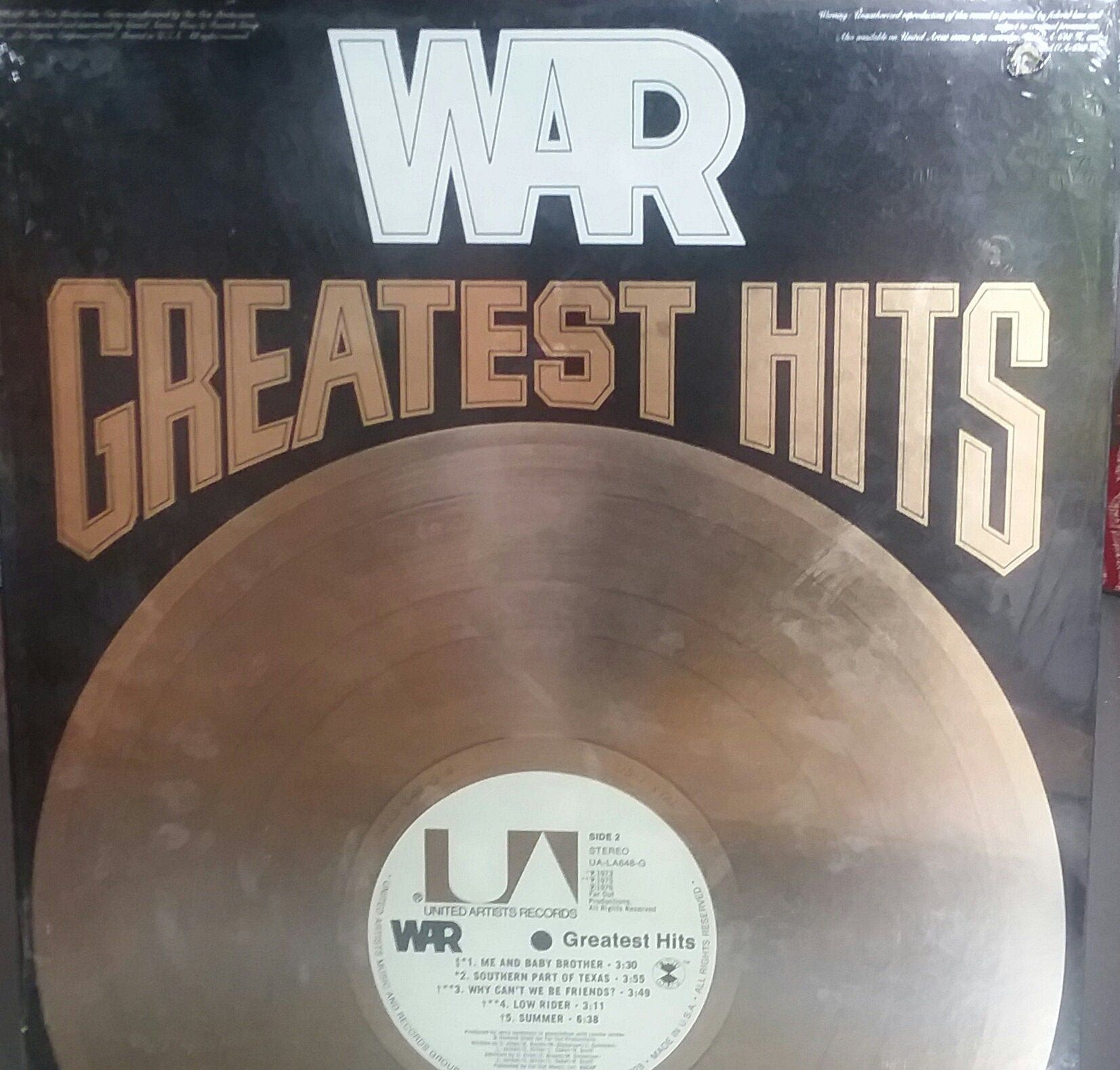 War Greatest Hits Vintage Record Album Vinyl Lp Classic Funk