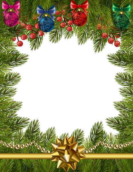 Christmas Transparent Frame Border Christmas border
