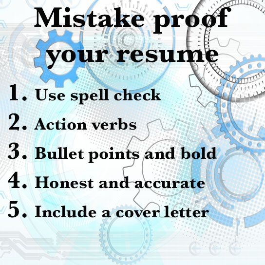 Use This Tips To Mistake Proof Your Resume.