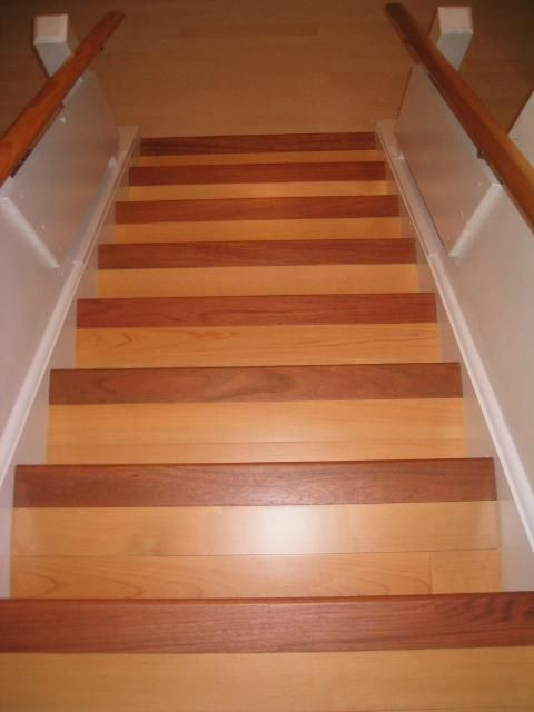 Best Step Step Install Wood Treads Risers Historically The Hardwood Fl… Brazilian Cherry 640 x 480
