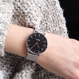 Already seen the giveaway @amandastas ?! #cluse #watch #giveaway #girls #fashion #look #style #silver #black #outfit #ootd #photo #win #timepiece