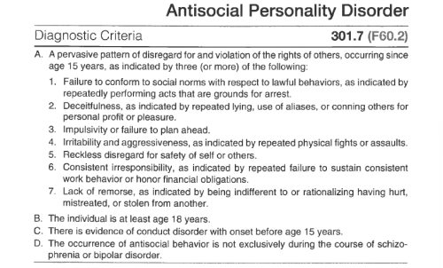 am i dating someone with antisocial personality disorder