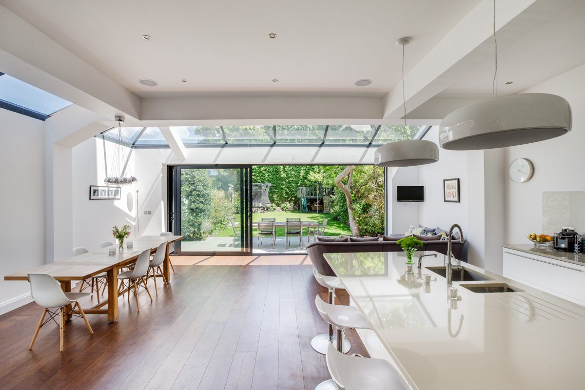 This london location house is a light and spacious victorian family home in putney with contemporary decor it has a large kitchen reception ro