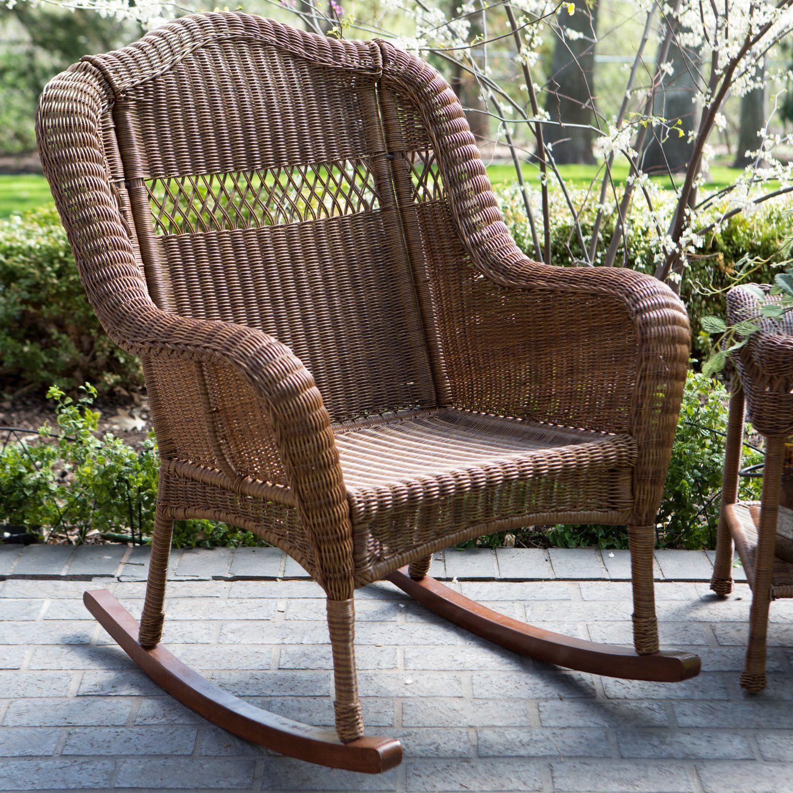 Amazing Outdoor Coral Coast Casco Bay Resin Wicker Rocking Chair Inzonedesignstudio Interior Chair Design Inzonedesignstudiocom