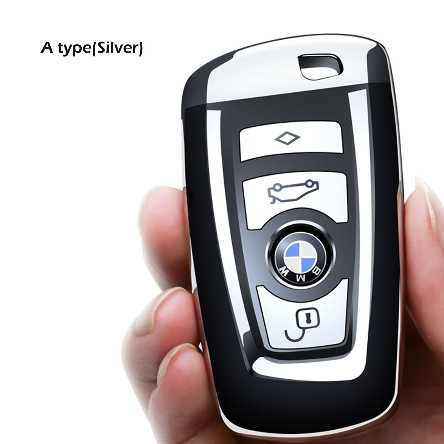 Covell For Bmw Key Fob Cover Full Protection Soft Tpu Key Fob