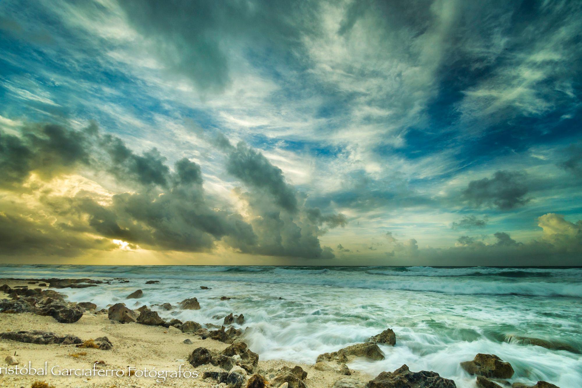 Sunrise beach wedding  Sunrise in Cozumel Landscapes photo by CristobalGarciaferroRubio