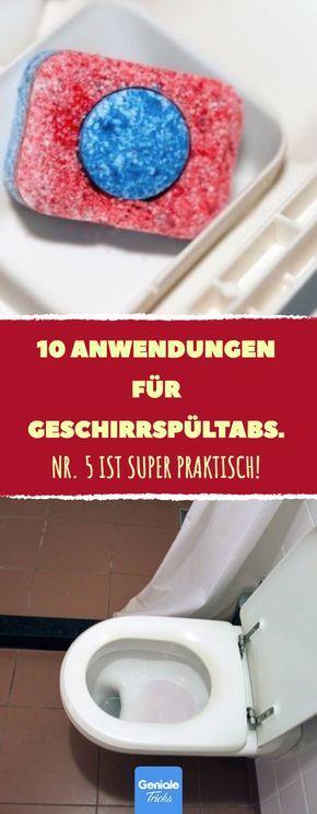 10 Anwendungen für Geschirrspültabs #householdhacks