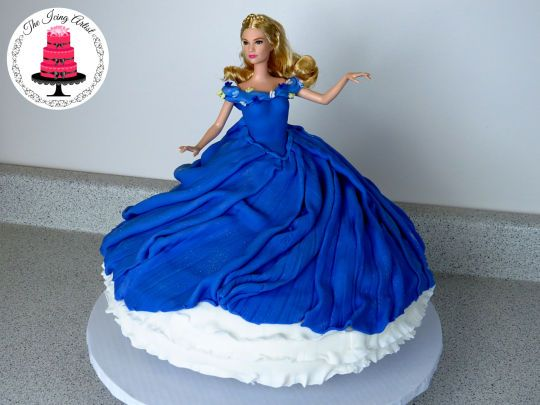 Cinderellas Twirling Dress Cake doll cakes Pinterest Dress