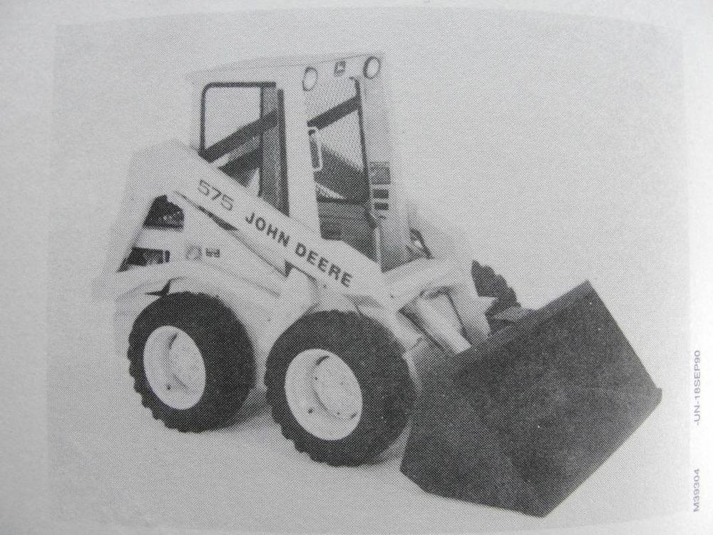 Original john deere 575 skid steer loader tractor operators manual