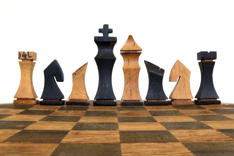 Superb Bourbon Barrel Chess Set