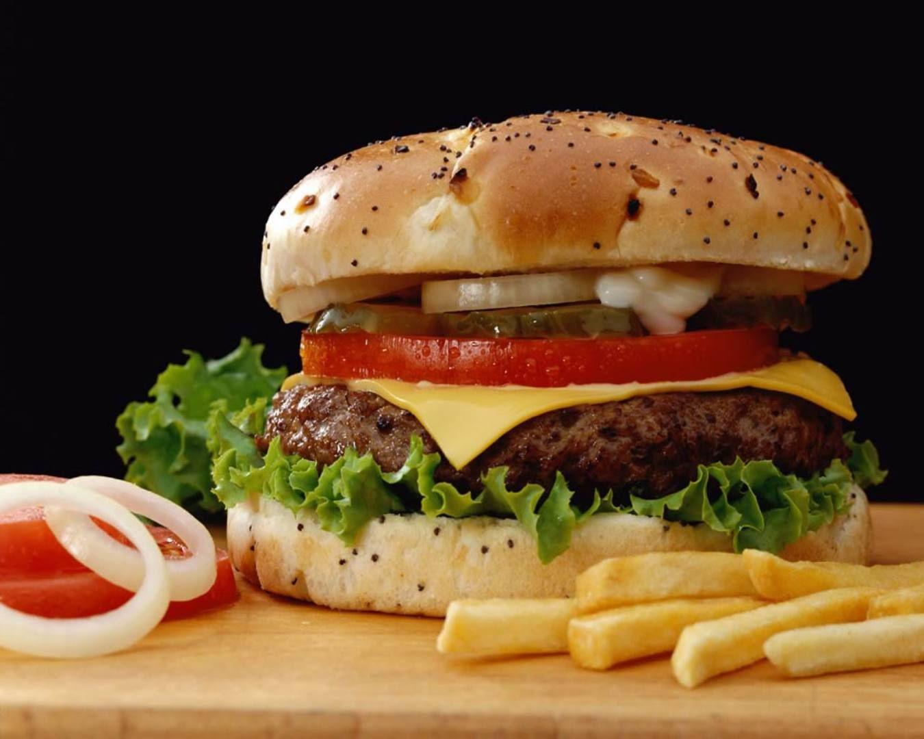 hamburger and fries wallpaper - photo #8