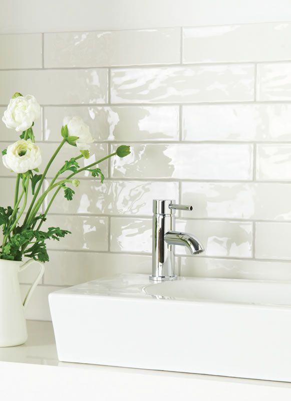 300 X 100 Metro Tiles White Tile Backsplash White Brick Tiles Brick Tiles