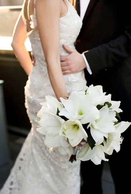 Wedding Flowers Bouquets Winter Wedding Bouquet Elegant Winter Wedding Amaryllis Wedding Bouquet