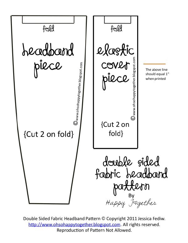 FabricHeadbandPattern.docx | lazos | Pinterest | Collares y Costura