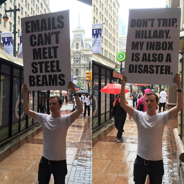 Fighting the good fight at the DNC. #DemsInPhilly