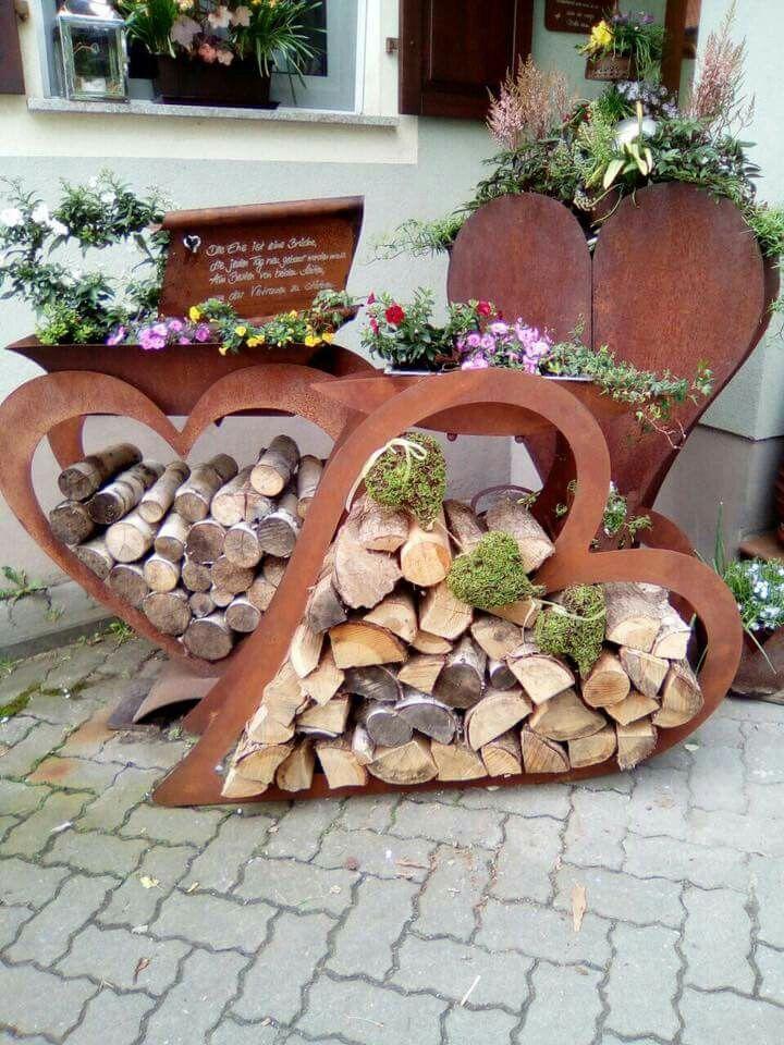 Herz Metall Hochzeit Am Eingang Yard Art Garten Ideen