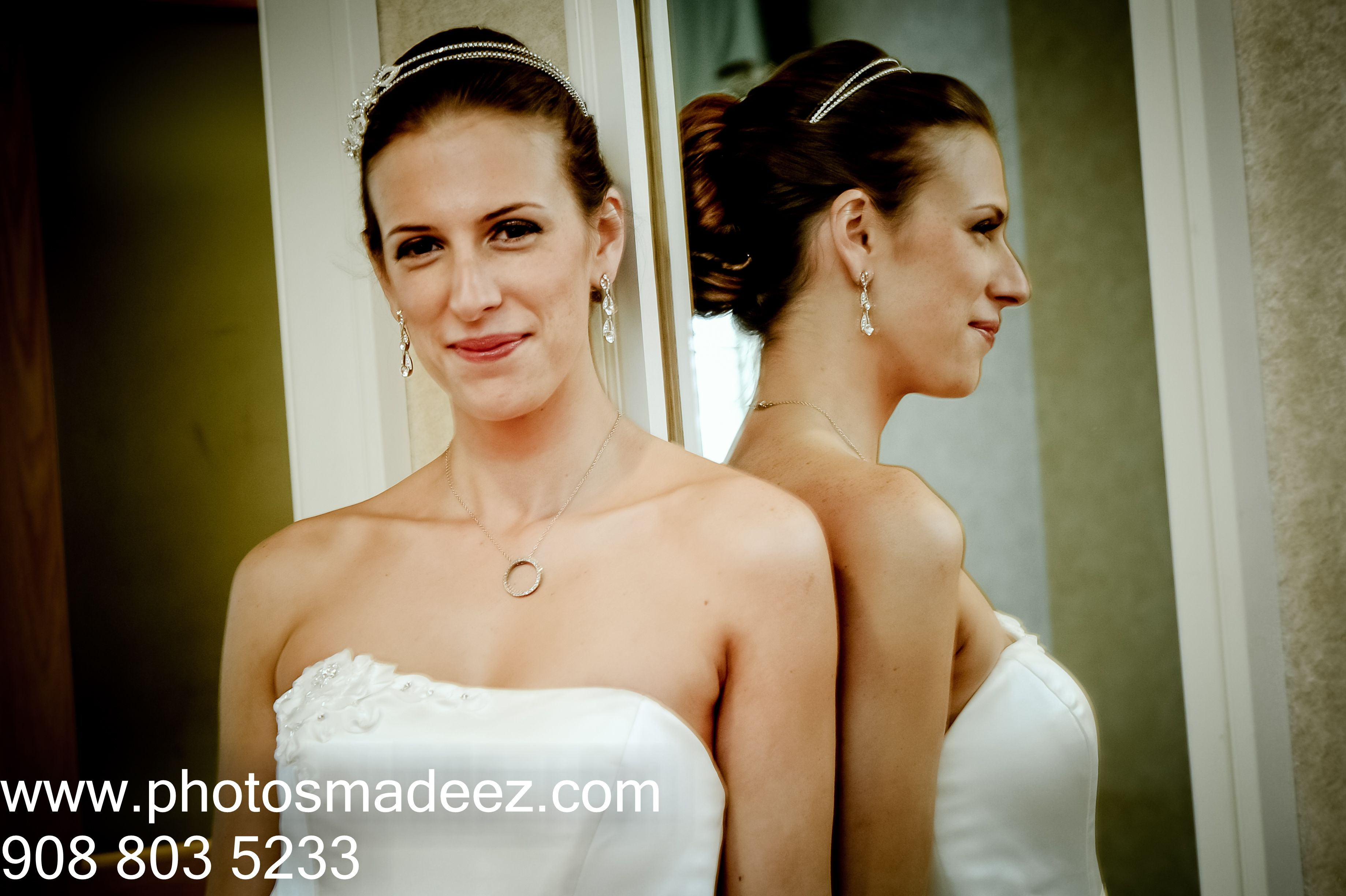 Bride in white gown for christian wedding in new jersey best