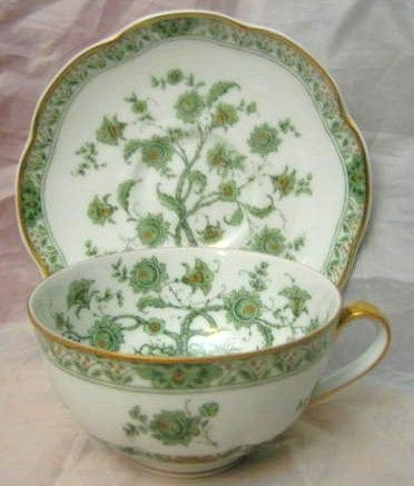 Decorative Dishes - Green Chinoiserie Exotic Tree GOLD Trim French Bone China Cup   Saucer, $24.99 (http://www.decorativedishes.net/green-chinoiserie-exotic-tree-gold-trim-french-bone-china-cup-saucer/)