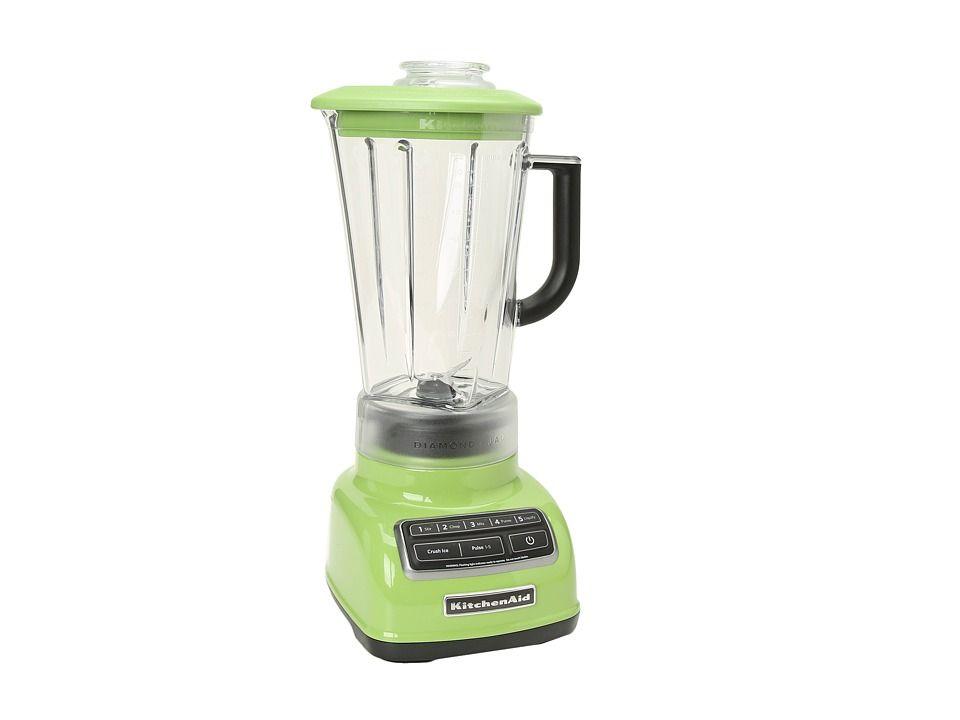 Kitchenaid Ksb1575 5 Speed Diamond Blender In Green Apple Kitchen Aid Blender Reviews Blender