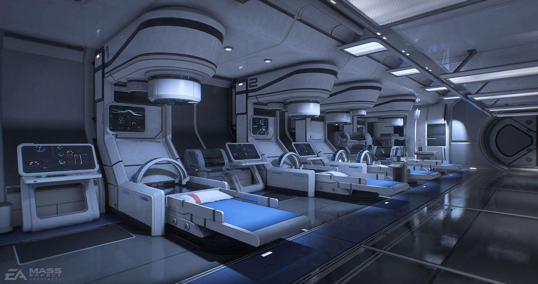Eternity med bay | Spaceship interior, Futuristic interior, Sci fi ...