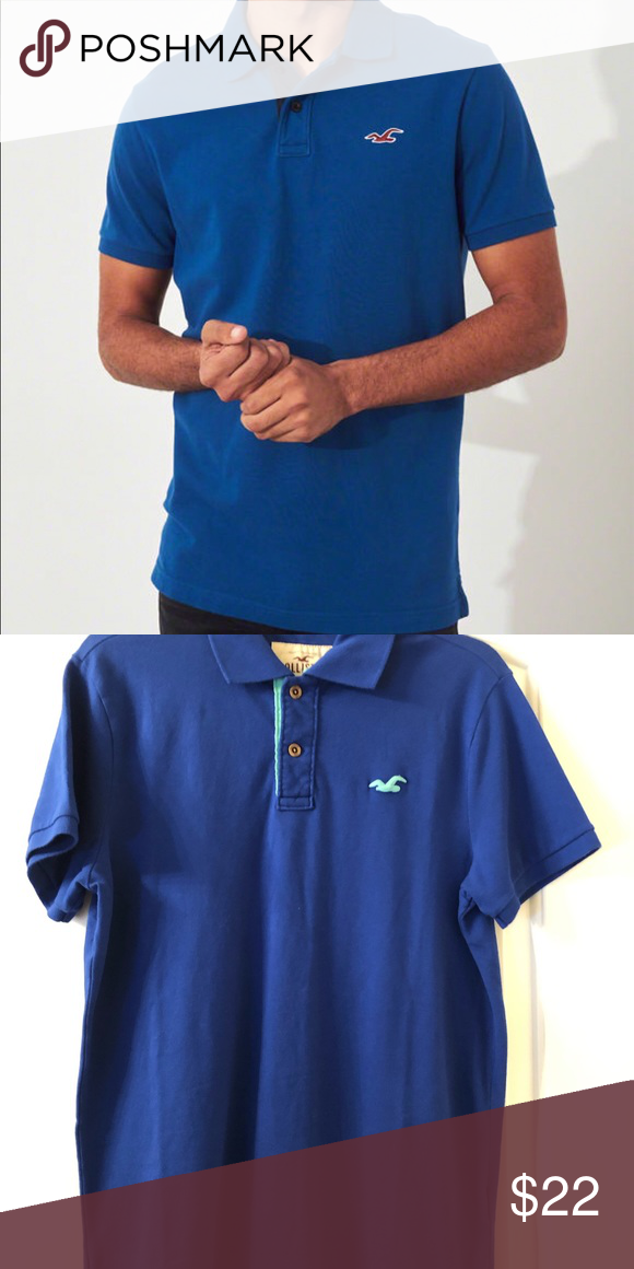 c84bce7e Hollister stretch slim fit polo Model is 6'1