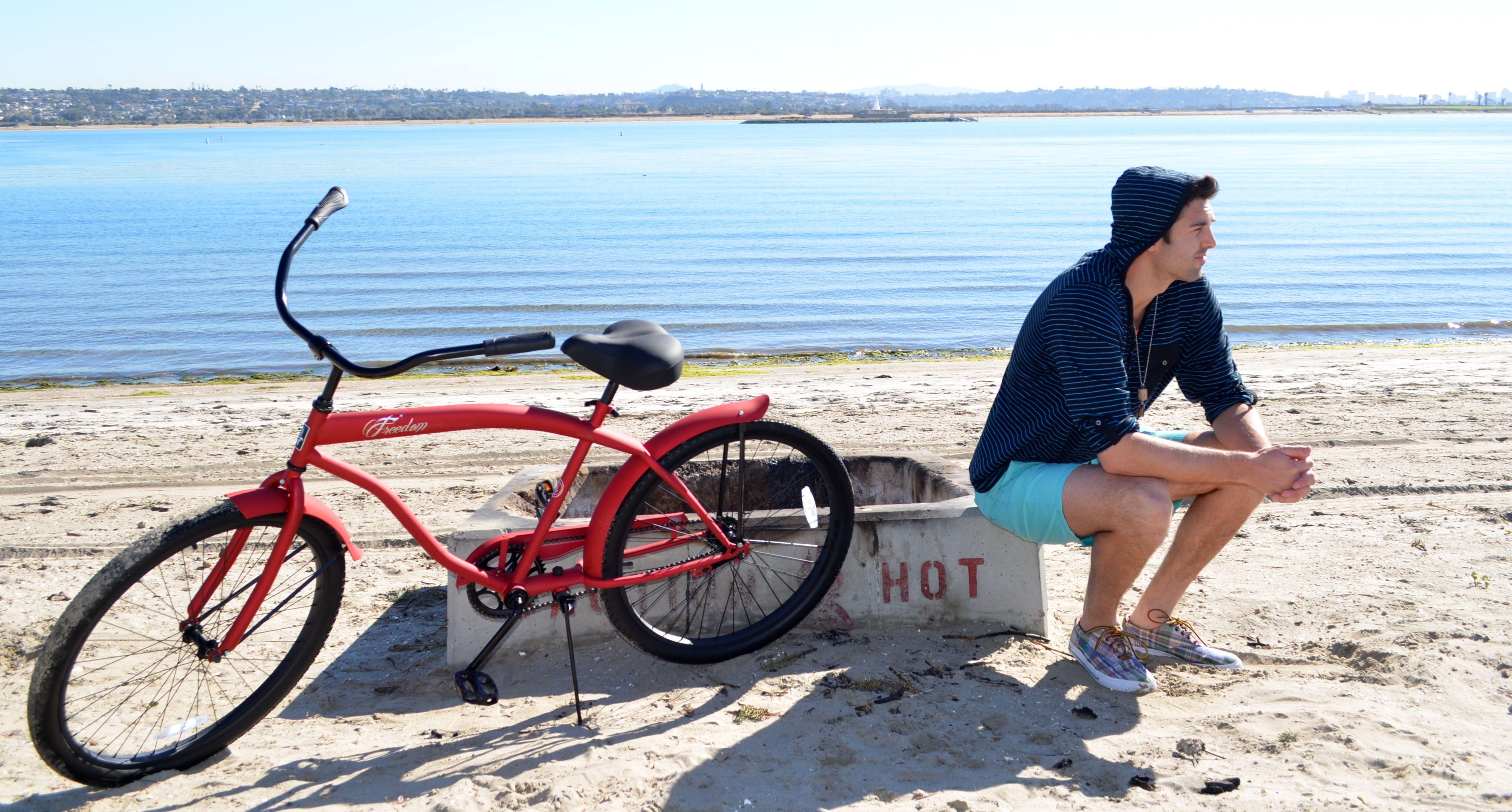 Flat Red Men's Beach Cruiser