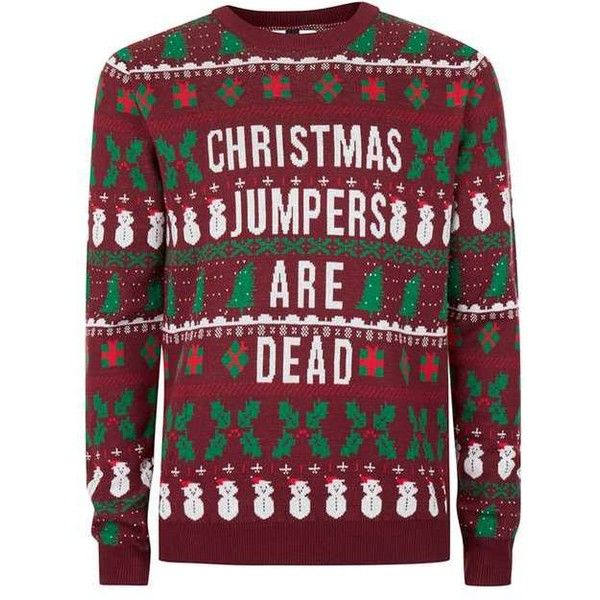 Burgundy Christmas Jumpers Are Dead Ugly Sweater (€53) ❤ liked on ...