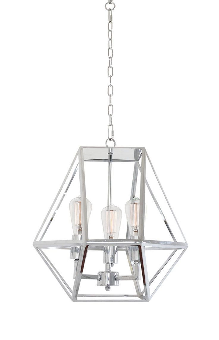 The beacon lighting vaille 3 light pendant in chrome with chrome the beacon lighting vaille 3 light pendant in chrome with chrome lampholders aloadofball Image collections