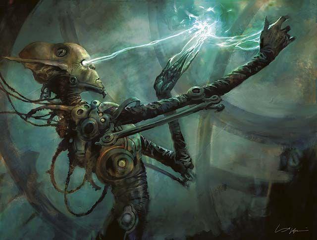 Simic Guildmage Art By Aleksi Briclot Simic Fantasy Art