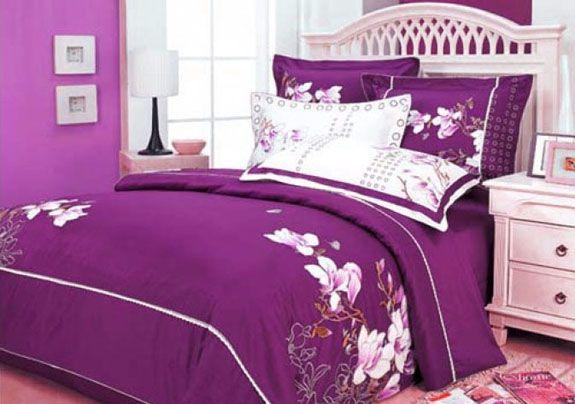 Dark blue and purple bedding sets royal bedroom - Blue and purple bedroom curtains ...