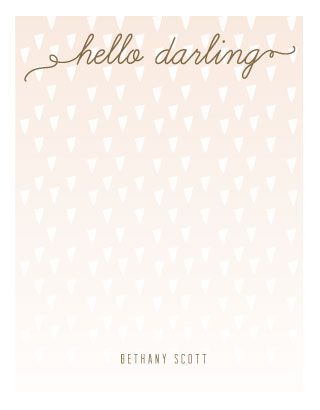 Confetti in Blush by Penelope Poppy. #stationery #hellodarling #confetti #notes