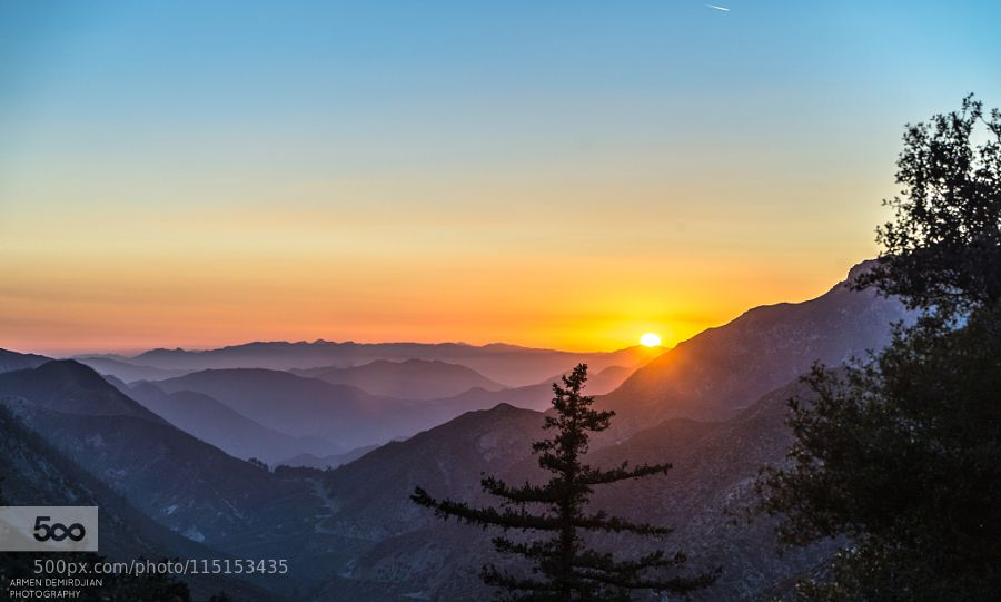 Angeles Crest sunset by ArmenDemirdjian #nature