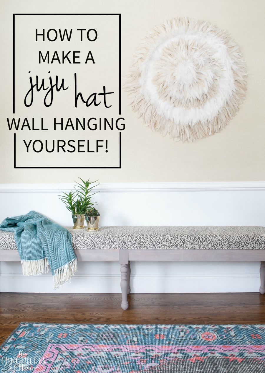 Diy Juju Hat Feather Wall Hanging Feather Wall Hanging Feather