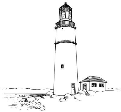 How To Draw Lighthouses In 4 Steps Lighthouse Drawing Lighthouse Lighthouse Painting