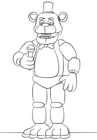 Freddy Fazbear Coloring Page Fnaf Golden Free Sheets Printable Pages