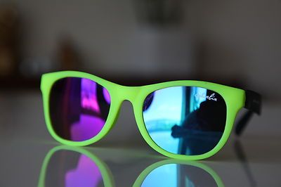 Tortoise Sunglasses Neon Lemon Yellow/ Rubber/ Black/ Iridescent Lenses  $11