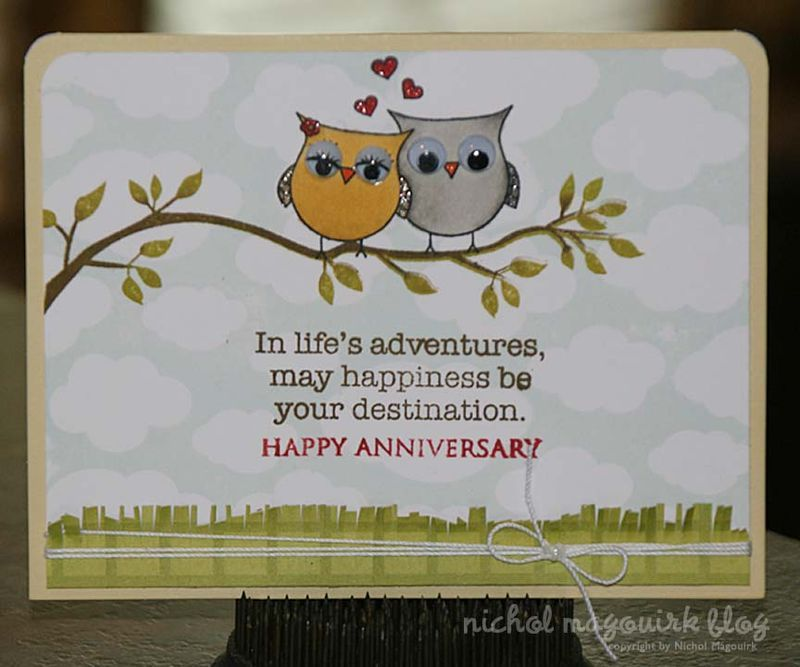 Anniversary Card (Stamping  Copics) WORDS OF WISDOM Pinterest
