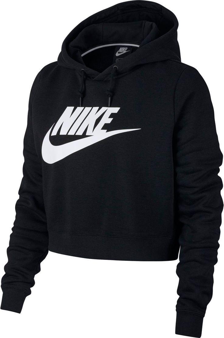 Sudadera corta con capucha Nike Sportswear Rally para mujer ...